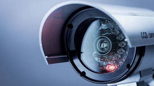 Close up of a CCTV camera